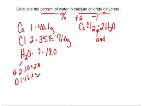 Percent Of Water In Calcium Chloride Dihydrate