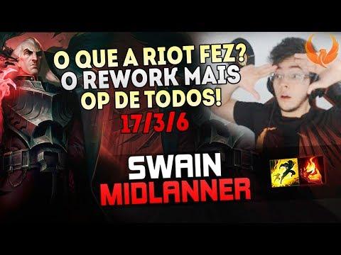 O QUE A RIOT FEZ? O REWORK MAIS OP DE TODOS! - SWAIN REWORK MID GAMEPLAY [PT-BR]