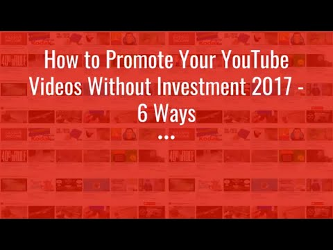 how to promote your youtube business make money online without investment 2017