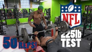 Larry Wheels & Terron Beckham NFL 225 Bench Test  | Athlete Vs Record Breaker Powerlifter
