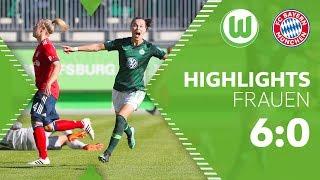 6:0 über FC Bayern | VfL Wolfsburg Frauen - FC Bayern München 6:0 | Highlights
