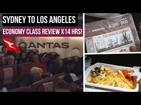 QANTAS A380 - SYDNEY TO LA Economy Class Review ✈️ (QF11) | Surviving A 14-hour Flight!