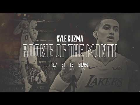 Kyle Kuzma: Western Conference Rookie of the Month
