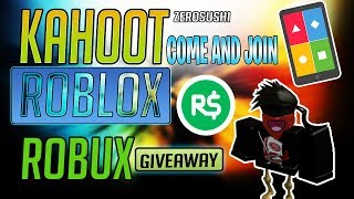 🔴ROBUXS GIVEAWAY/Kahoot And Roblox Live Stream #72🔴COME JOIN AND HAVE FUN