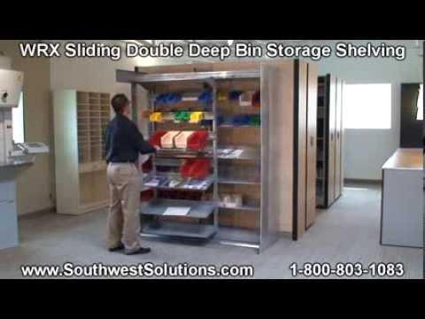 WRX Sliding Bin Storage Shelving  Hanging Plastic Bins on