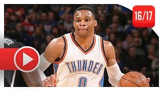 Russell Westbrook Triple-Double Highlights vs Clippers (2016.12.31) - 17 Pts, 14 Ast, 12 Reb