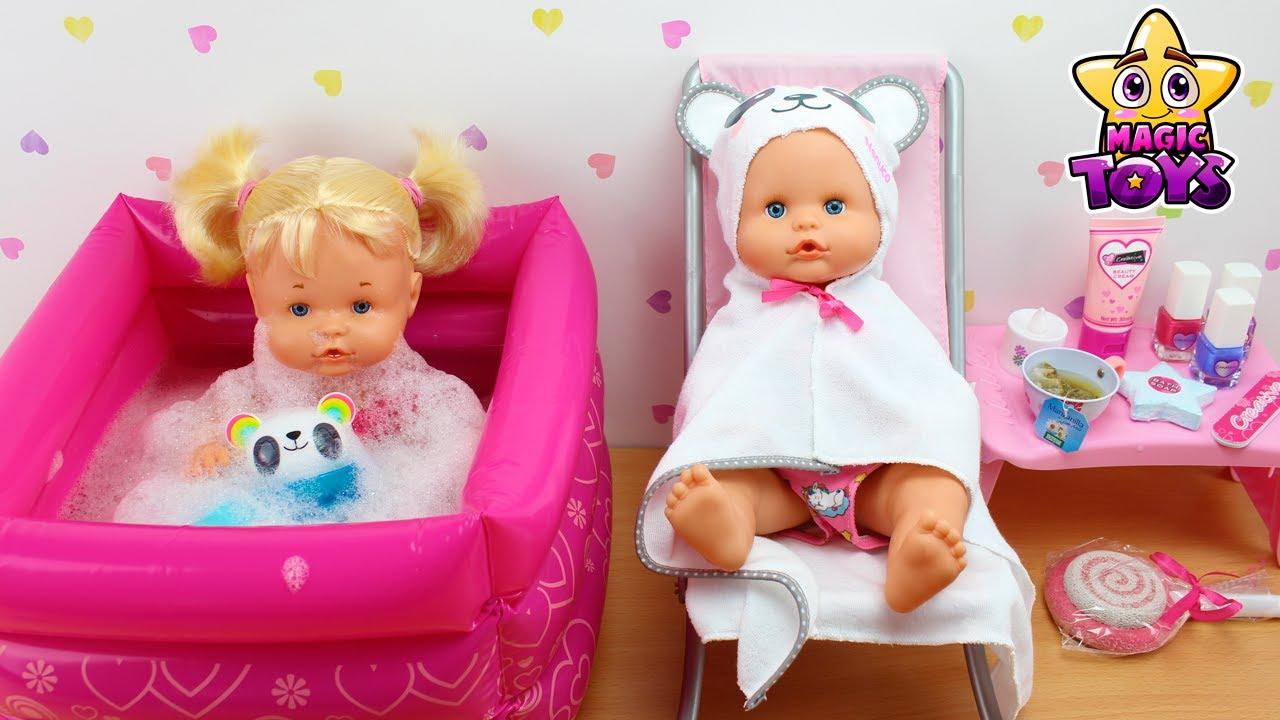 Más que nada haz Meyella  Las Bebés NENUCO Hermanitas Traviesas tienen su propio SPA con JACUZZI para un  baño relajante - YouTube