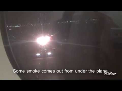 Emirates A380 hard landing from inside