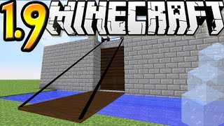 "MineCraft 1.9 SnapShot: Draw Bridges In Vanilla! ""SnapShot 15w45a"" Contraption!"