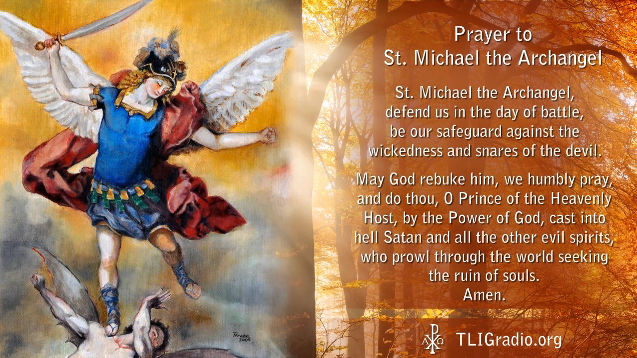 Prayer to St. Michael the Archangel - YouTube
