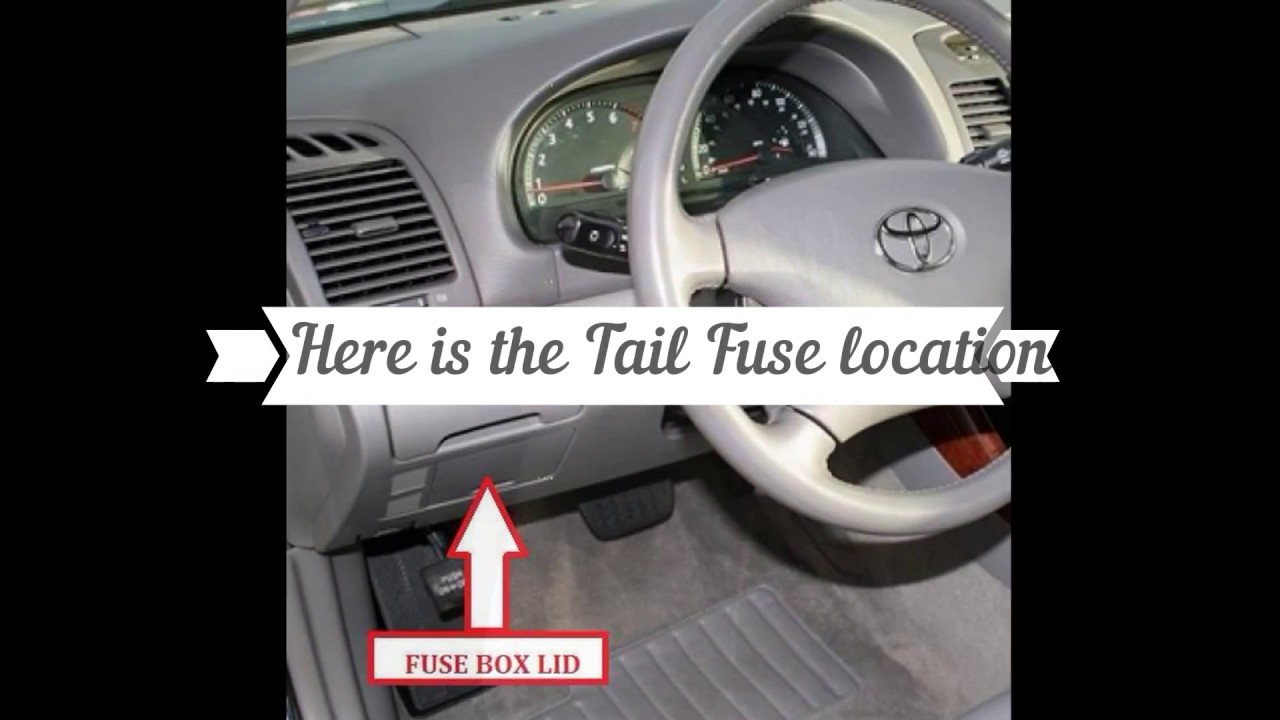 Where Is Tail Light Fuse 2003 Camry Wiring Diagram