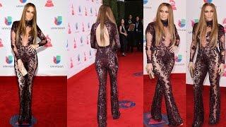 Jennifer Lopez Stuns in Sheer Jumpsuit on Latin Grammys Red Carpet