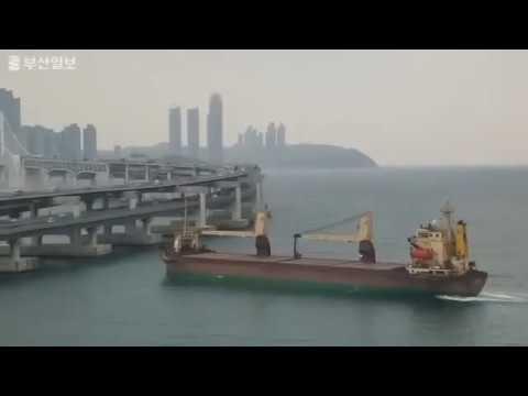Russian cargo ship collision SEAGRAND  Korea bridge crash, Busan 2019