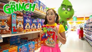 The Grinch Cereal Shopping at Supermarket Toys
