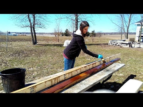 How to Treat Lumber | Treating Lumber with Motor Oil | Acres of Clay Homestead