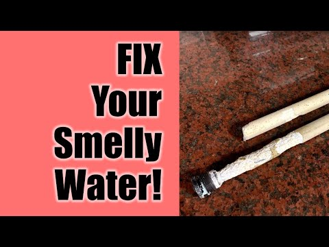 Fix Smelly Well Water - Remove Rotten Egg Sulfur Smell With New Aluminum And Zinc Anode.