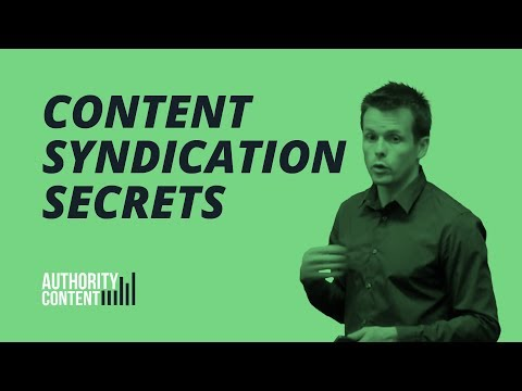 Content Syndication Strategy Presentation