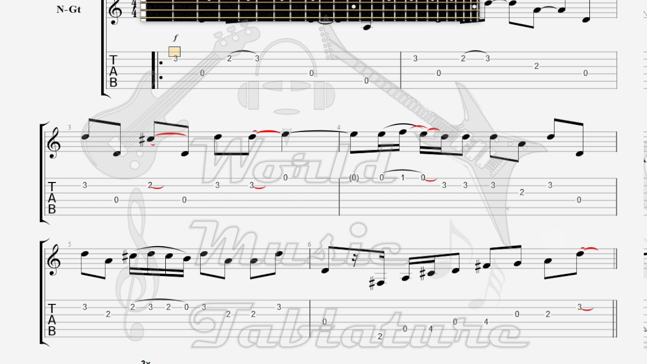 Doors The The End intro GUITAR TAB  sc 1 st  YouTube & Doors The The End intro GUITAR TAB - YouTube
