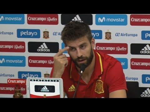 """Piqué: """"No es mi caso, pero un independentista puede jugar con España"""""""