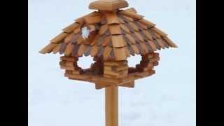 Bird Feeder- Feeding Birds In The Garden