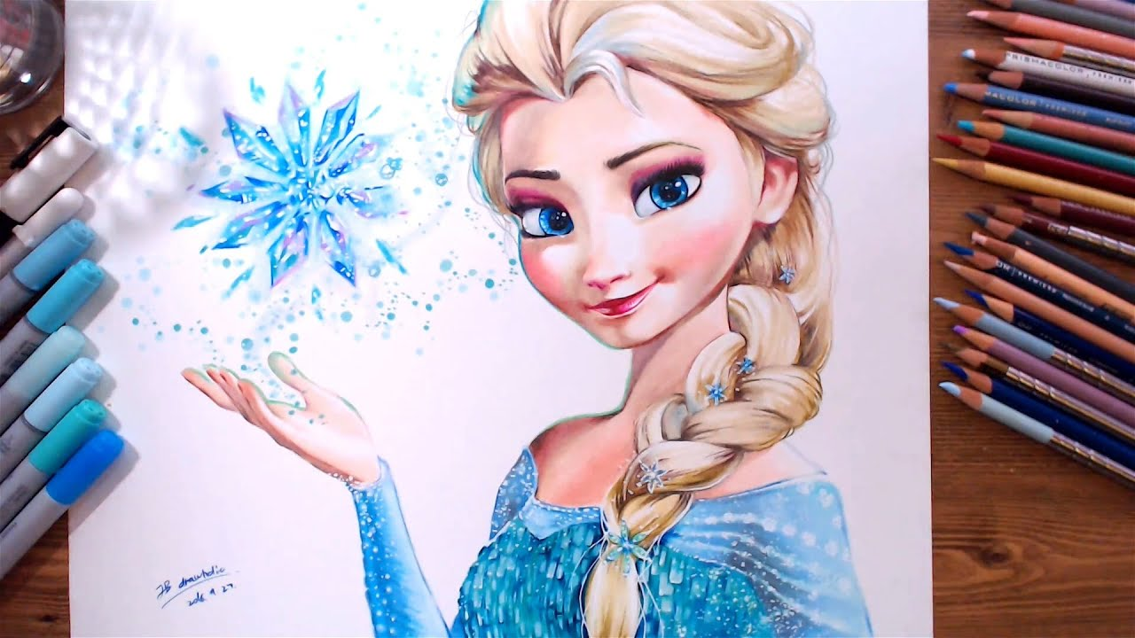 Drawing Elsa Frozen Drawholic Youtube