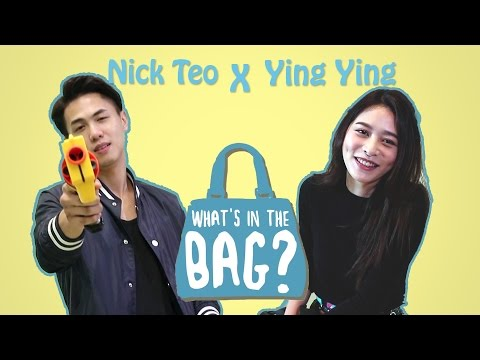 What's In Your Bag? w/ Nick Teo & He Ying Ying