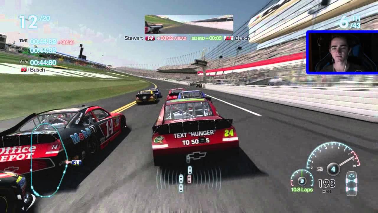 Nascar Racing Games >> Nascar The Game Inside Line Race 1 36 Daytona 500 Youtube