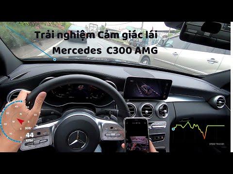 Trải nghiệm cảm giác Mercedes C300 AMG 2020 một vòng Sài Gòn. POV test drive