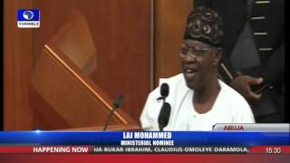 Ministerial Screening: Drama, Comedy As Senators Screen Lai Mohammed 13/10/15