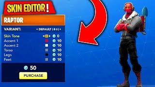 NEW! Skin Editor in Fortnite: Battle Royale! FREE Skins Editor in Fortnite Leaked! #ad
