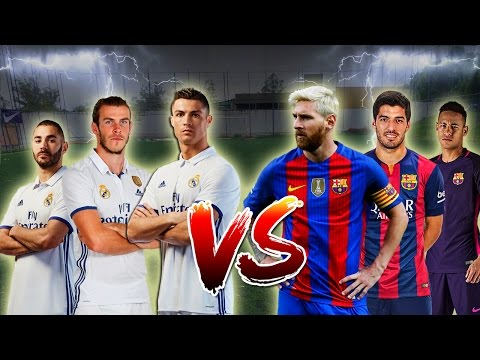 TRIO BBC (real madrid) vs TRIO MSN (barcelona) - DUELO DE GIGANTES!!