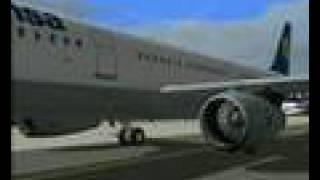 FS2004 IFR Flight Lufthansa LH3536 Frankfurt/Main - Wien