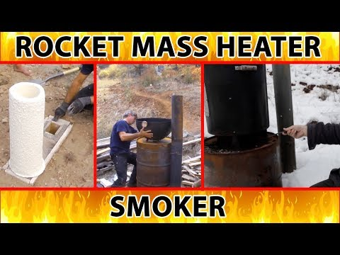 "rocket smoker and outdoor cooker - excerpt from ""Better Wood Heat"" DVDs"