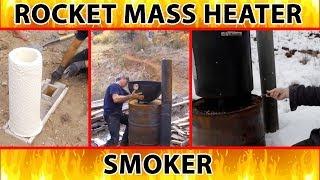 "rocket smoker and outdoor cooker - excerpt from ""Better Wood Heat"" DVDs"