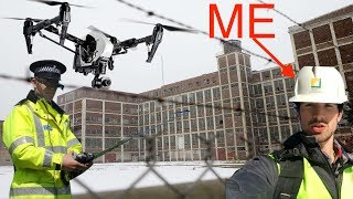 SECURITY DRONE CHASED US AT ABANDONED FACTORY! (Used Yellow Vests to Infiltrate Tunnels!