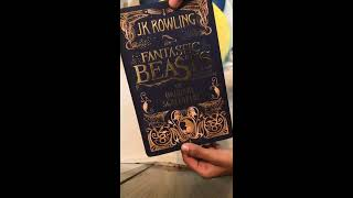 Fantastic Beasts & Where to Find Them | Script Book | JK Rowling | Opening