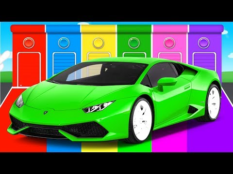 Thumbnail: FUNNY Cars & COLORS for Children - Bus Learning Educational Video - Superheroes for toddlers babies