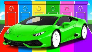 FUNNY Cars & COLORS for Children - Bus Learning Educational Video - Superheroes for toddlers babies
