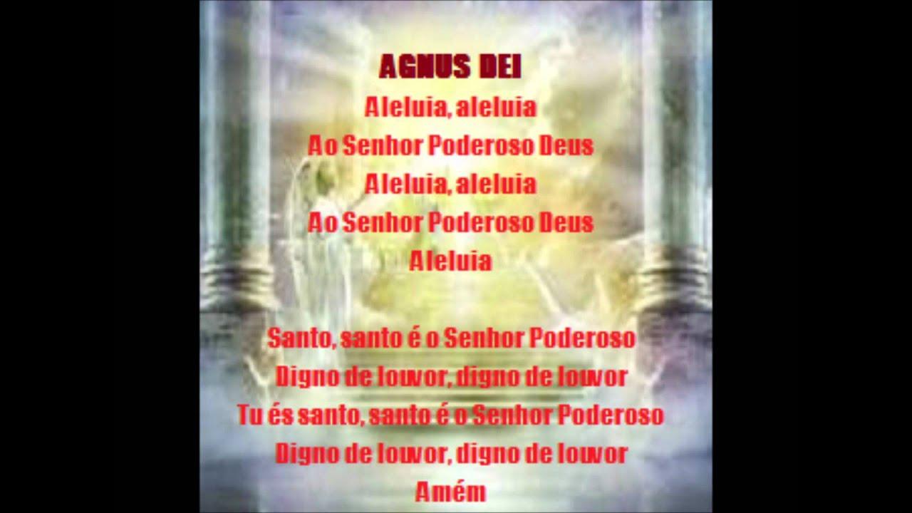 Digno De Louvor Agnus Dei Aleluia Letra Youtube