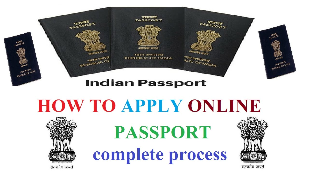 How To Apply Online Indian Passport Full Process In Hindi Application