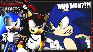 Sonic & Shadow Reacts To Mario Vs Sonic - Cartoon Beatbox Battles!