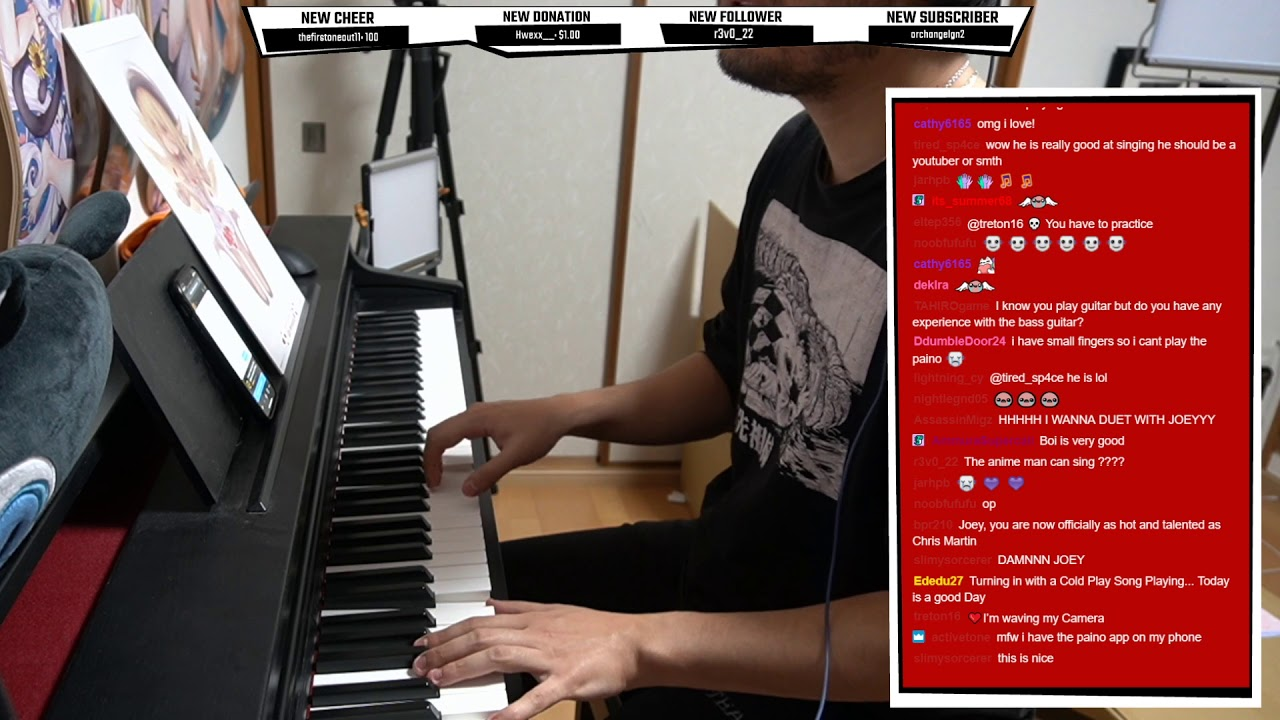 Anime Man Sing The Scientist Coldplay While Playing Piano Youtube Life of a rule 34 artist ft. youtube