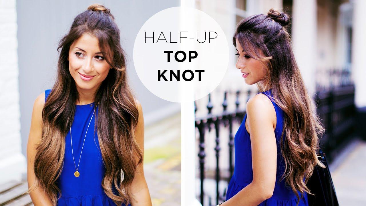 Half up top knot hairstyle tutorial youtube pmusecretfo Choice Image