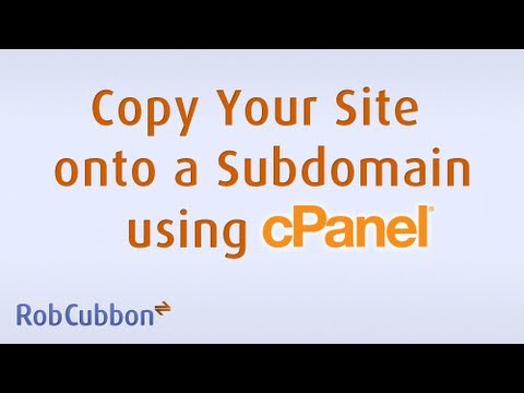 Create A Subdomain Copy WordPress Site On cPanel
