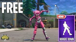 BOOGIE DOWN For FREE | Dancing BOOGIE DOWN for FREE-FORTNITE BATTLE ROYALE