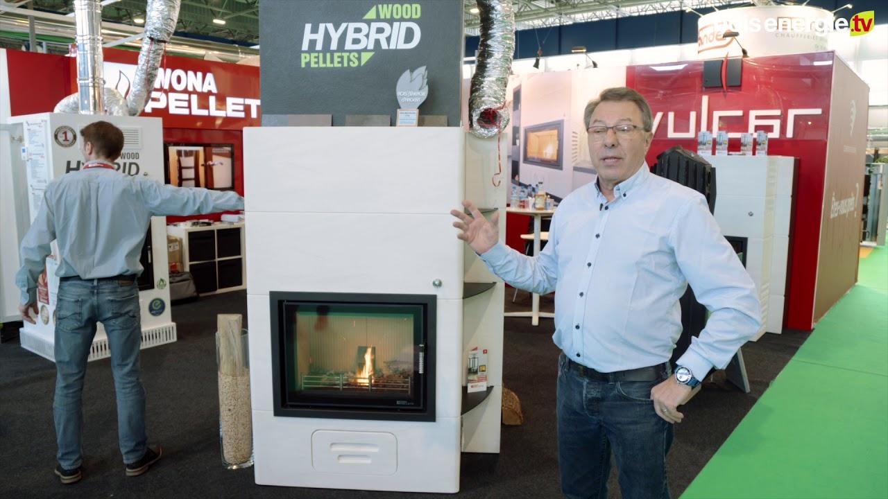 Salon Du Poele A Granule iwona pellets bois energie expo 2018 d'argent poêle hybride