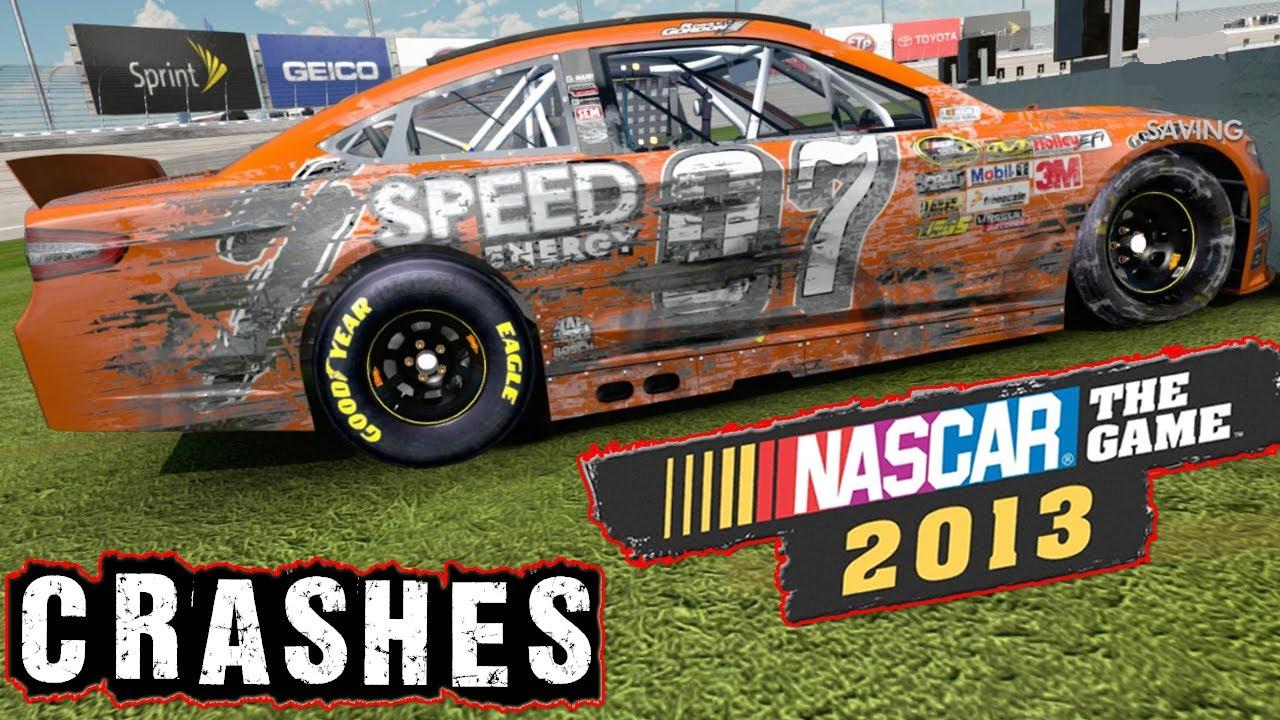 NASCAR The Game 2013 Crashes HD - YouTube
