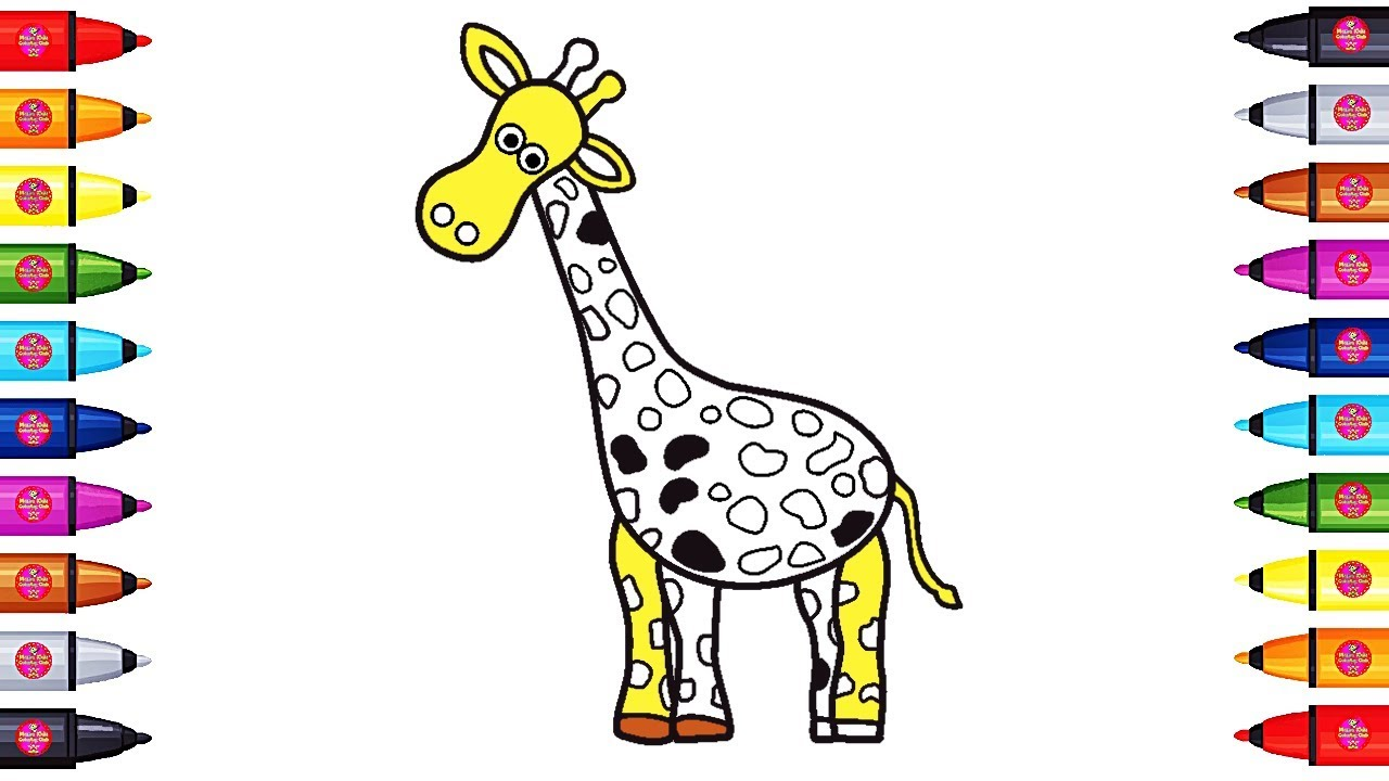 cute giraffe coloring pages animals coloring pages for kids