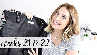 Twin Pregnancy Vlog Weeks 21 + 22: Diaper Bag, Baby Kicks, Belly | Kendra Atkins