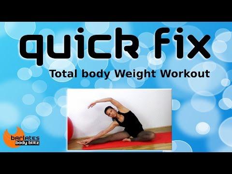 FREE Total Body Mat Workout - Quick Fix Total Body Weight Workout BARLATES BODY BLITZ